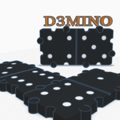 Image.png Download STL file Domino 3D • 3D print design, graphismeMIH