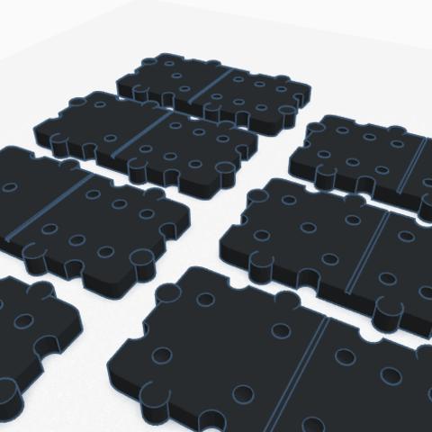 Image 1.png Download STL file Domino 3D • 3D print design, graphismeMIH