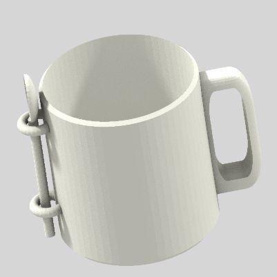 image mugetcuillere.jpg Download free STL file Classic Mug + Spoon • Design to 3D print, graphismeMIH