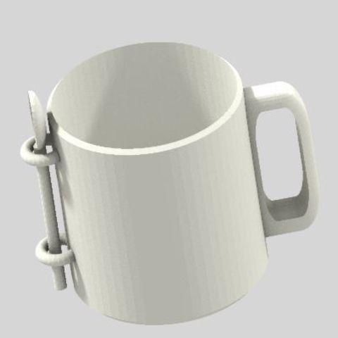 Download free STL files Classic Mug + Spoon, graphismeMIH