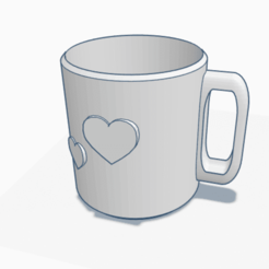 Free 3D printer designs Love Mug, graphismeMIH