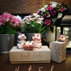 Télécharger fichier 3D gratuit Famille de hamsters, numfreedom