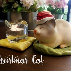 Download 3D printing models Christmas Cat, numfreedom
