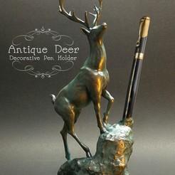 Download 3D printer designs Antique Deer, numfreedom