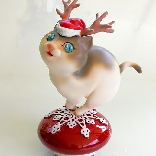 Download 3D print files Reindeer Cat, numfreedom