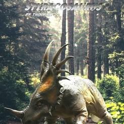 Descargar STL Estiracosaurio, numfreedom