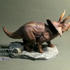 Télécharger fichier STL Triceratops, numfreedom