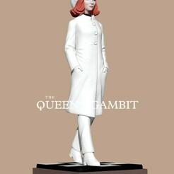queens-5.jpg Download STL file The Queen's Gambit • 3D printable template, numfreedom
