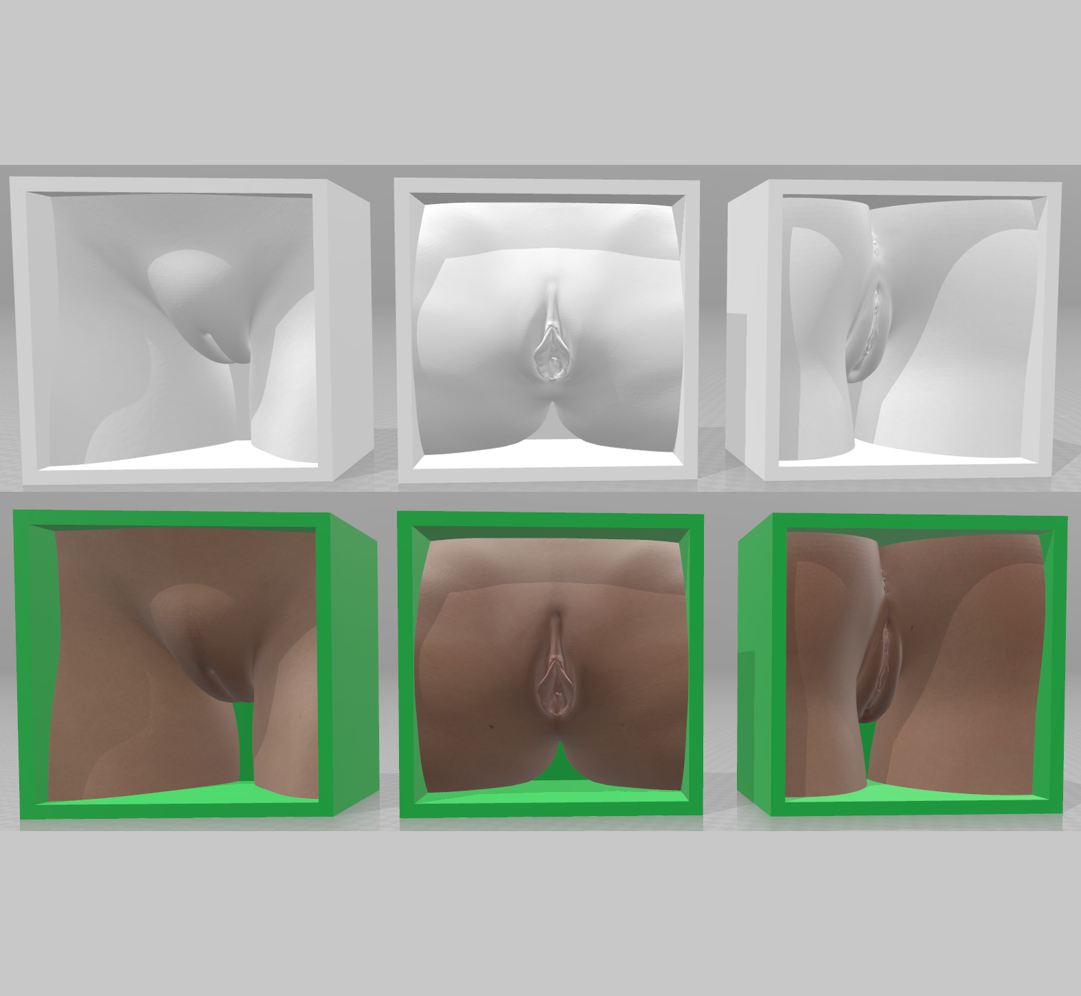 Girl-01a.png Download OBJ file Box Box Box (3D Vagina Set) • Design to 3D print, QwertyPlate