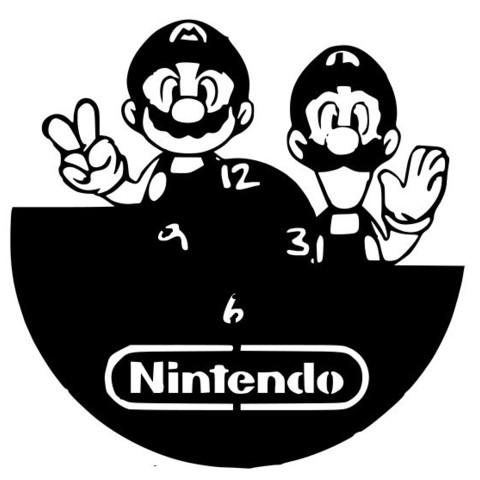 Nintendo.jpg Download STL file Clock vinyl collection • 3D printer design, razoner