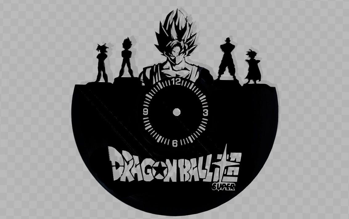 DrgaonBall2.jpg Download STL file Clock vinyl collection • 3D printer design, razoner