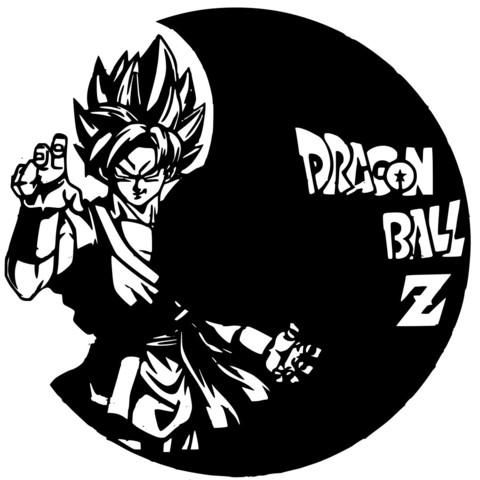Dragonball.jpg Download STL file Clock vinyl collection • 3D printer design, razoner