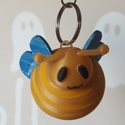Download free 3D printing designs Cute bee keychain, senhime