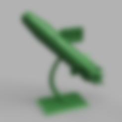 Télécharger modèle 3D gratuit statue/trophée fusée pour startup, blandiant