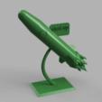 plan 3d gratuit statue/trophée fusée pour startup, blandiant