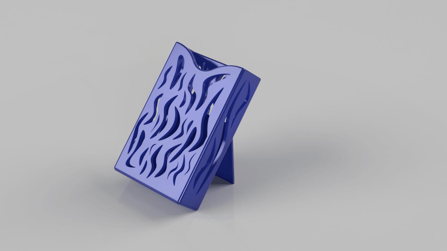 visit_card_holder-and-support.png Download free STL file business card holder for desk • 3D printing model, blandiant