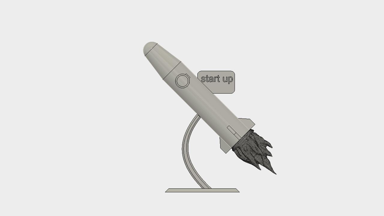 fussée v8.png Download free STL file statue/rocket trophy for startup • 3D print design, blandiant