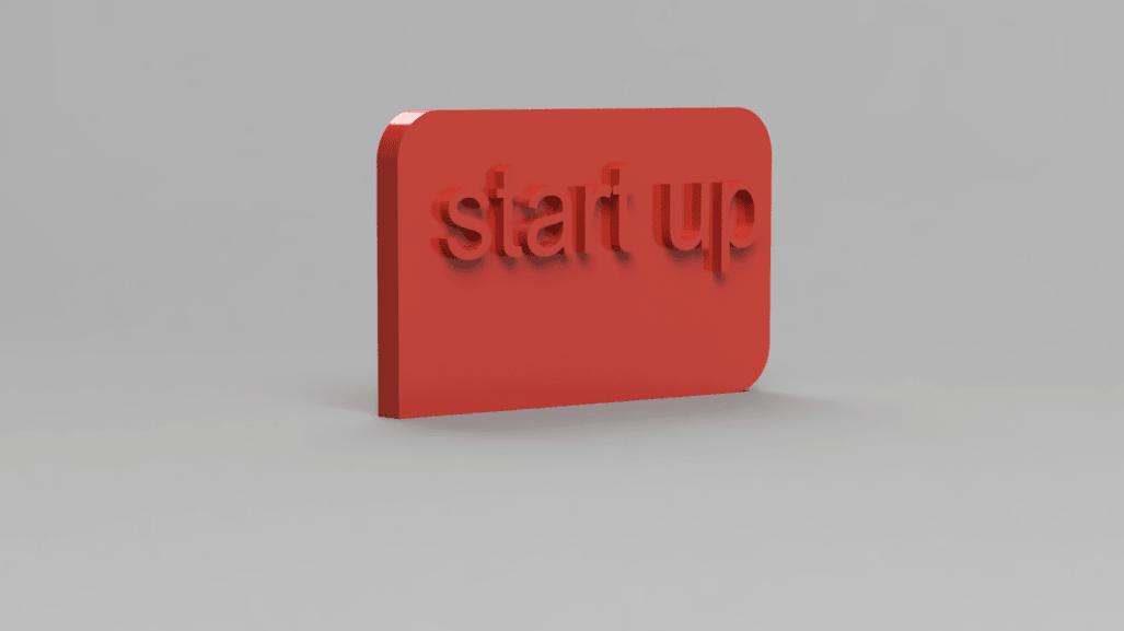 panneau 2.png Download free STL file statue/rocket trophy for startup • 3D print design, blandiant