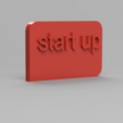 Download free 3D printer templates statue/rocket trophy for startup, blandiant
