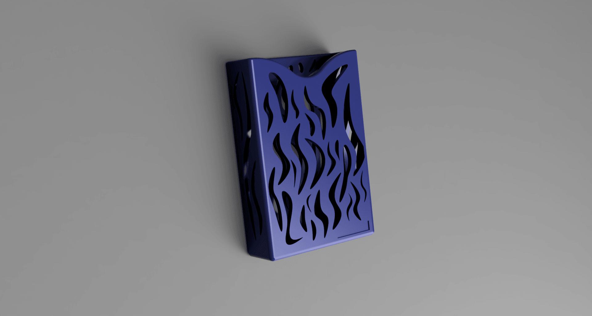 visit card holder (with rectangle for logo).png Download free STL file business card holder for desk • 3D printing model, blandiant