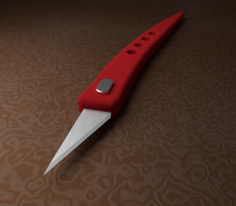 bladerender2.jpg Download free STL file Utility Knife • 3D printer model, 3dcave