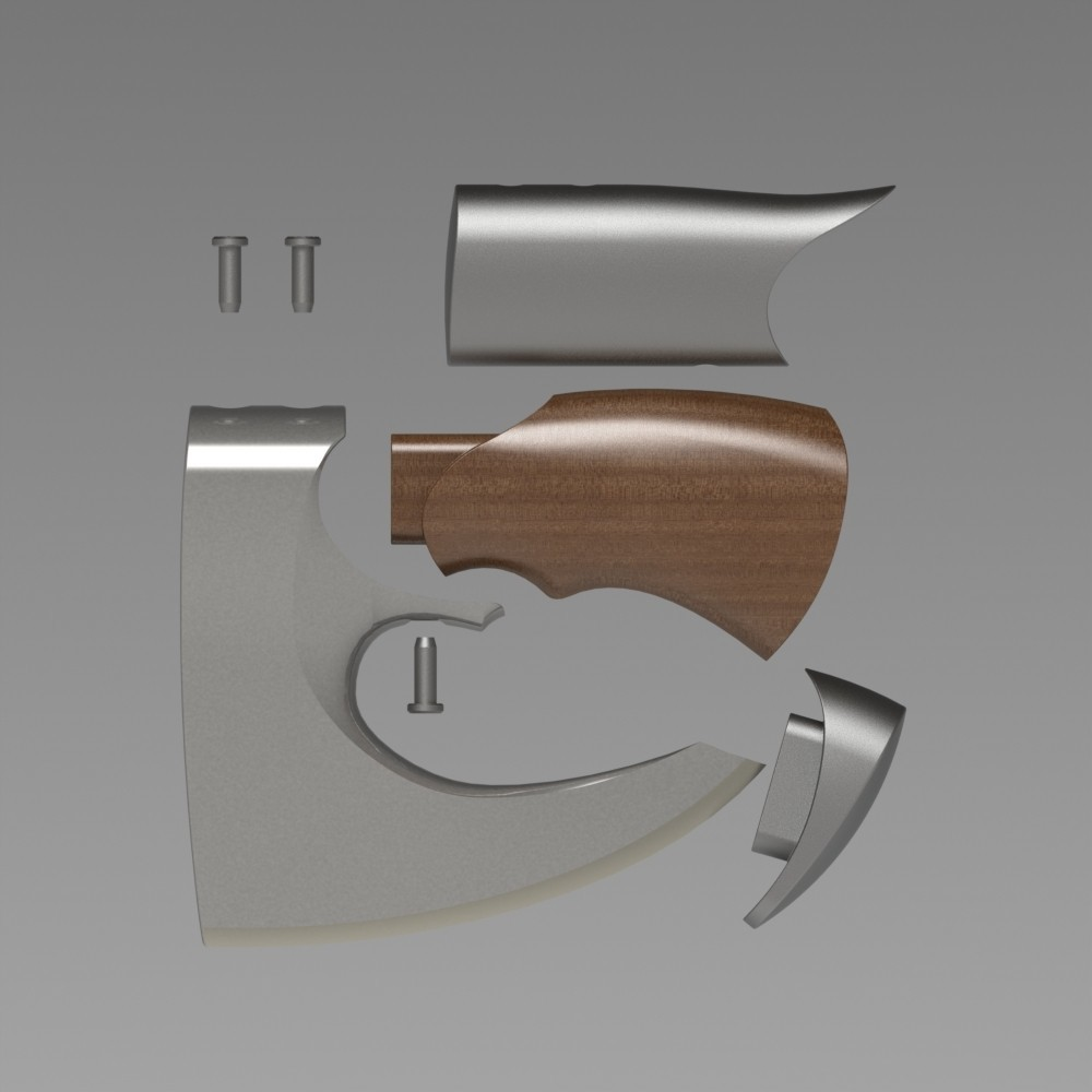 axeassembly.JPG Download STL file Hatchet (One-Handed Axe) • 3D printer template, 3dcave