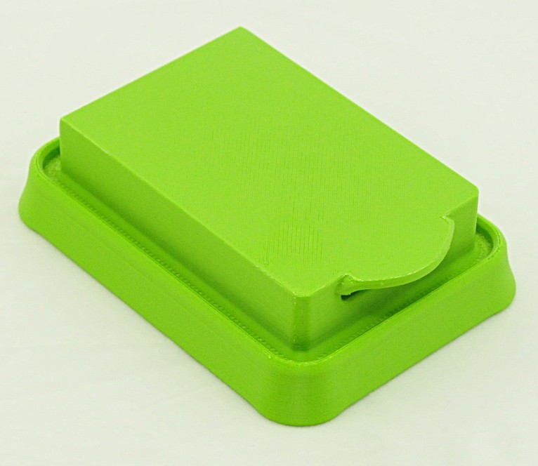 TrayUndersideUnpolished.jpg Download free STL file  Interchangeable Shower Soap Dish System • Model to 3D print, Sue3DDesigns