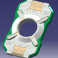 cortana.png Download STL file Halo - Cortana chip HD • 3D printable template, spyder-atelier