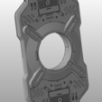cortana chip 1.png Download STL file Halo - Cortana chip HD • 3D printable template, spyder-atelier