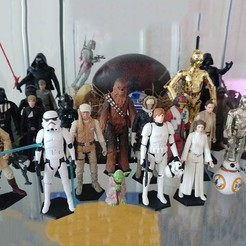 Download free STL file Star Wars Figures Simple Stands • 3D print object, jonnieZG