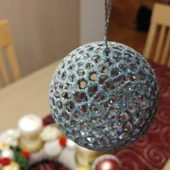 Download free 3D printing designs Christmas Ball (70 mm), jonnieZG