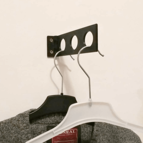 Download free 3D printing designs Foldable Wall Hanger for Clothes, jonnieZG