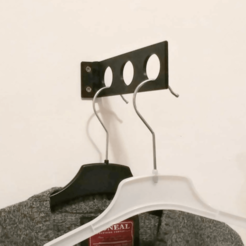 Free 3d printer designs Foldable Wall Hanger for Clothes, jonnieZG