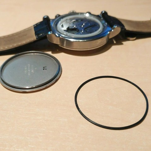 Download free STL Nautica Watch O-Ring Seal 0.6mm, jonnieZG