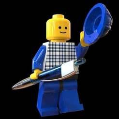 """Descargar archivos STL gratis Lego Man """"Pencil"""" (Lápiz), SE_2018"""