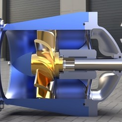 Download free 3D print files Water Turbine #1, SE_2018