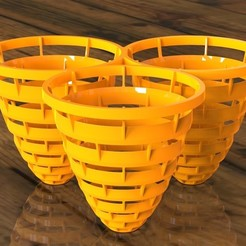 Desktop Baskets ORG.jpg Download STL file Desktop Baskets • Object to 3D print, SE_2018