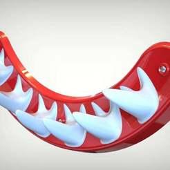 Imprimir en 3D gratis Gran gancho de pared blanco, SE_2018