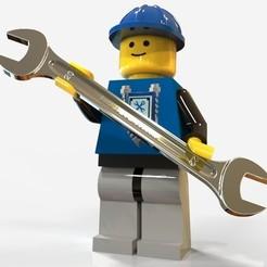 "Free 3d printer model Lego Man ""born to be Mechanic"" , SE_2018"