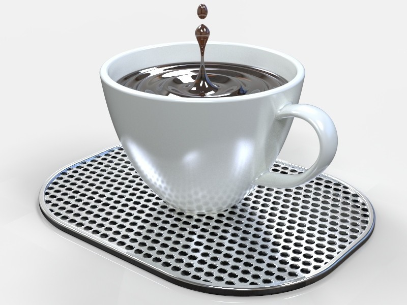 Tasse Tropfen - ORG.531.jpg Download STL file Coffee Drops • 3D printer object, SE_2018
