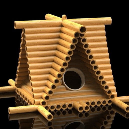 Download free STL file Lumberjack Bird House • Design to 3D print, SE_2018