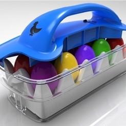 Diseños 3D gratis Cesta de huevos de Pascua, SE_2018