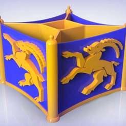 Descargar archivos 3D gratis Portaplumas Capricornio, SE_2018