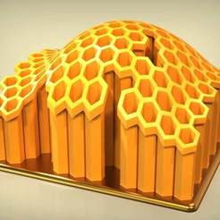 Descargar diseños 3D gratis Portaplumas de nido de abeja, SE_2018