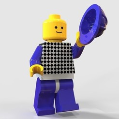 """Legomann grüsst_hell.jpg Descargar archivo STL gratis Lego Man """"se quita el casco"""" • Objeto para impresora 3D, SE_2018"""