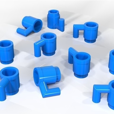 """Free stl files Lego """"Bunch of Cups"""", SE_2018"""