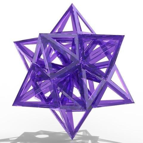 Free 3d printer model Dodekaeder Star , SE_2018