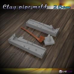 1.JPG Télécharger fichier STL Moule pour créer une pipe en terre 28cm • Design pour imprimante 3D, LnZProd