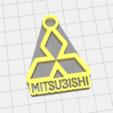 8787.png Download STL file Mitsubishi keychain • 3D printable template, LnZProd