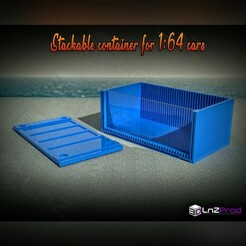 1.jpg Download STL file Stackable container for 1:64 cars • 3D printing model, LnZProd